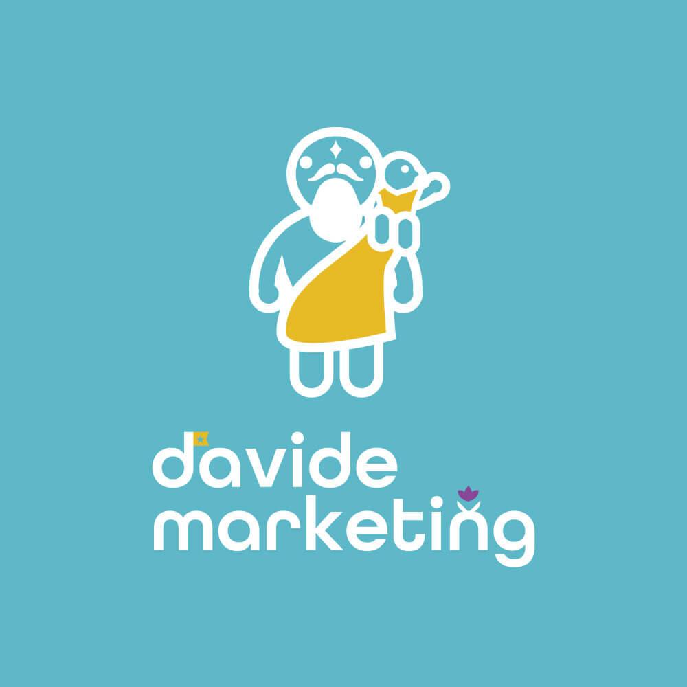 小さな会社の強い味方davide marketing株式会社様のロゴデザイン