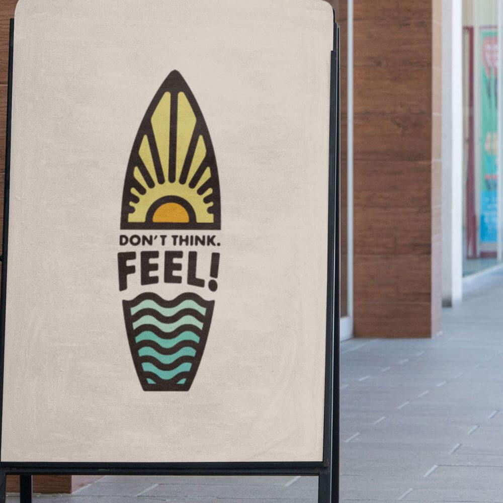 サーフィンを愛するDon't Think.Feel!様のロゴデザイン