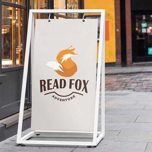 ビジネス系フリーペーパー DLC:Day16 Read Foxのロゴデザイン