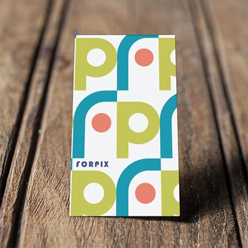 空撮やイベントなど幅広いジャンルの動画・写真撮影を行う 「株式会社forpix様」のロゴ・名刺デザイン